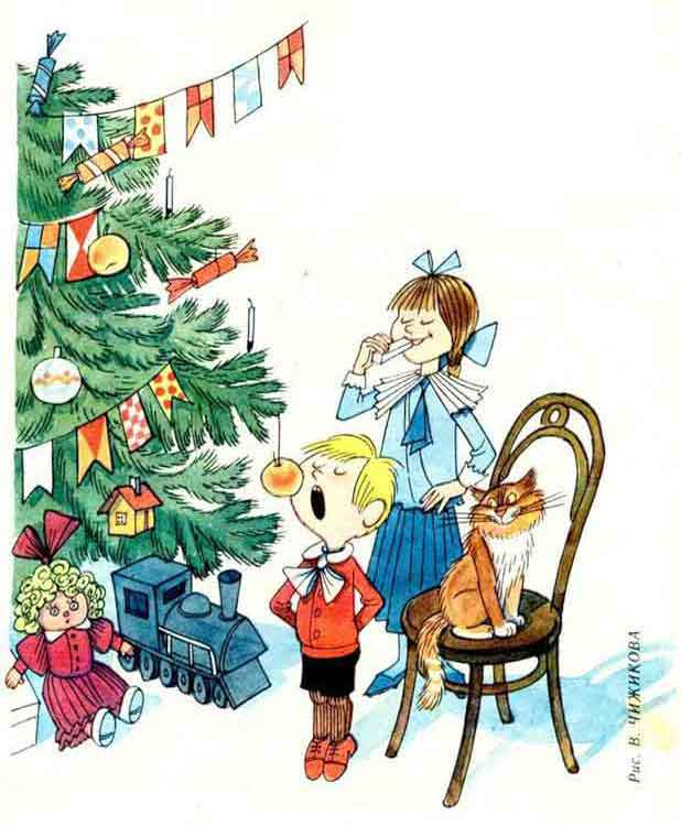 Рисунок к рассказу елка 4 класс
